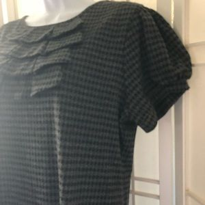 Perfect fall dress in gray houndstooth size 16